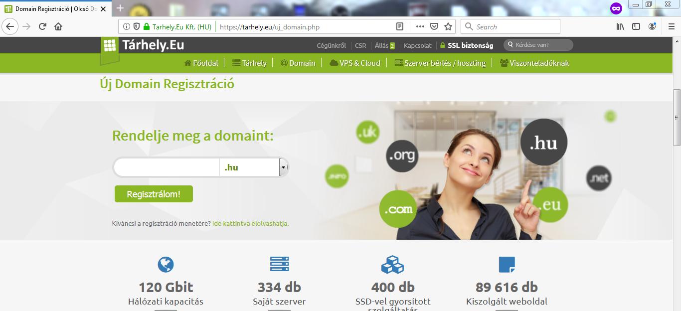 Domain név kereső