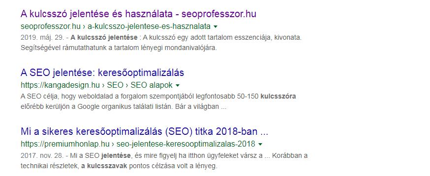 SEO Alapok – Title – Meta leírás – H1-tag