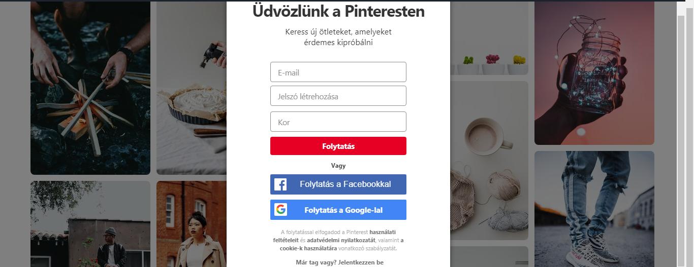 A Pinterest használata